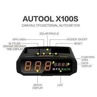 太陽能衛星定位HUD抬頭顯示器 Autool X100S