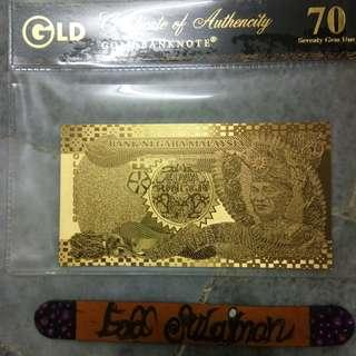 Gold banknote RM5