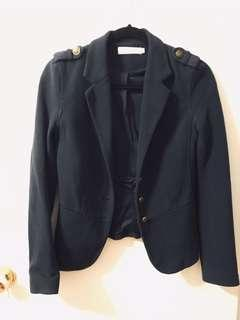 Nautical style navy blazer