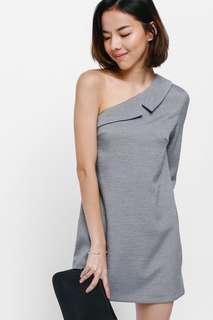 Love bonito Taeya Toga Knit Dress -grey