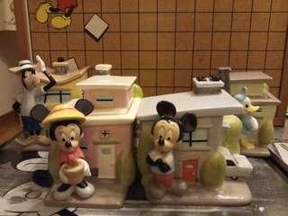 Disney Mickey Mouse and friends canister sets (4 jars)
