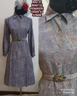 Vintage dress with matching belt