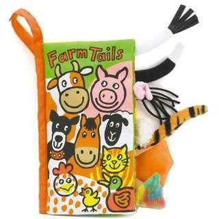 Jellycat Tails Book - Farm Tails