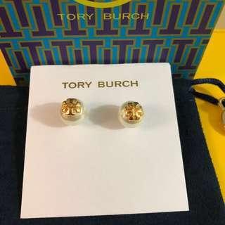 Tory Burch White Pearl Earrings