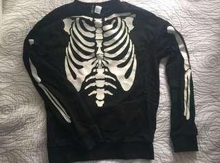 Brand new H&M skeleton sweater