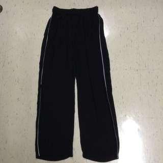 Semi-sheer track pants