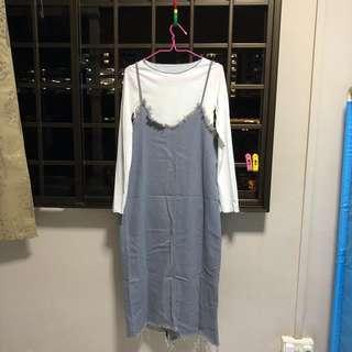 Denim Slip on Dress