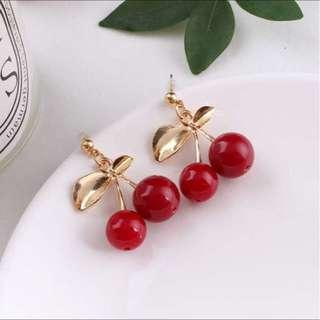 Cherry Statement Earrings