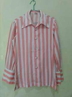 Shirt salur pink white
