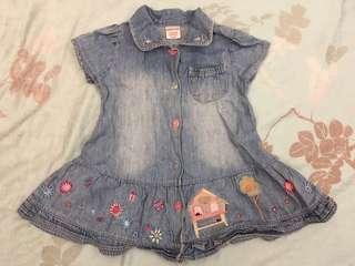 🚚 Next 女童牛仔洋裝(6個月至1歲起適穿)