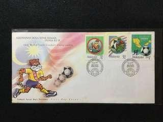 1997 9th World Youth Football Championship FDC (Note: Toned Spots On Cover)