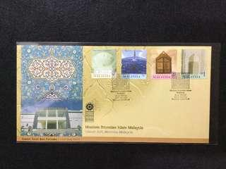 2000 Islamic Arts Museum Malaysia FDC (Note: Minor Toned Spots On Cover)