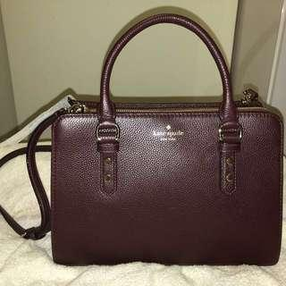 Kate Spade Leather Satchel (Mulberry)
