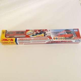 [只有一條] 限定商品Tomica Plarail 小田急電鉄 新型特急 GSE 70000形 *附3個plakids人仔