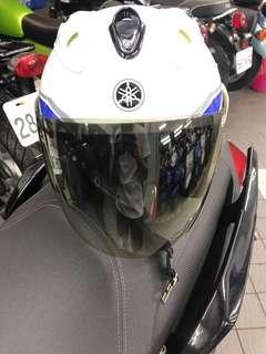 🚚 Yamaha 半罩式安全帽 白藍 size XL