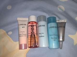 Laneige kit set $55 旅行方便 眼霜 卸妝 lotion  cleaning oil cleaner
