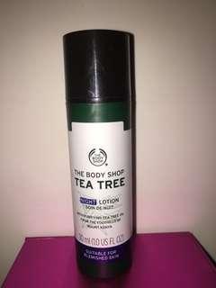 The body shop tea tree night lotion 30ml