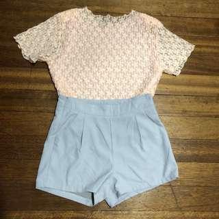 Blush Lace Floral Top