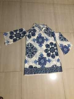 Mediteranian blue dress