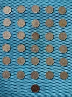 Old malaysian coin 10 cents parliment / duit sylling lama 10 sen parliment