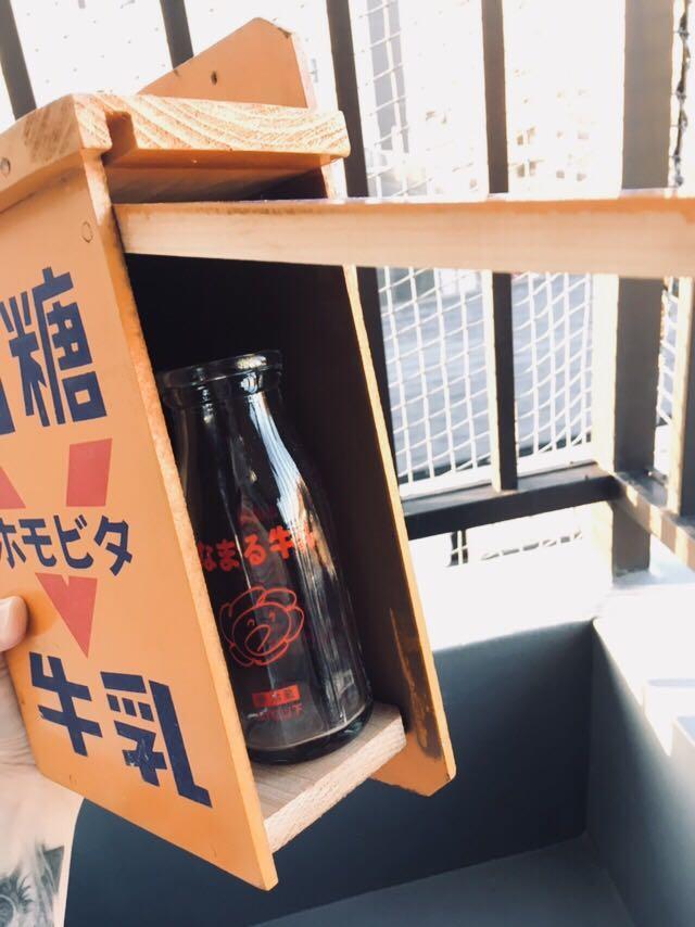 日本名糖牛乳舊式牛奶木箱