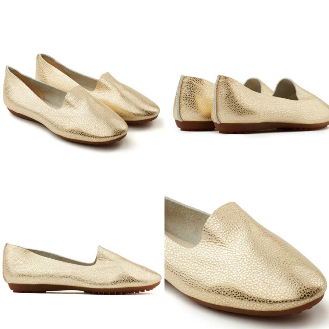 9ff1ba49344 🆕 PAZZION Gold Metallic Loafers