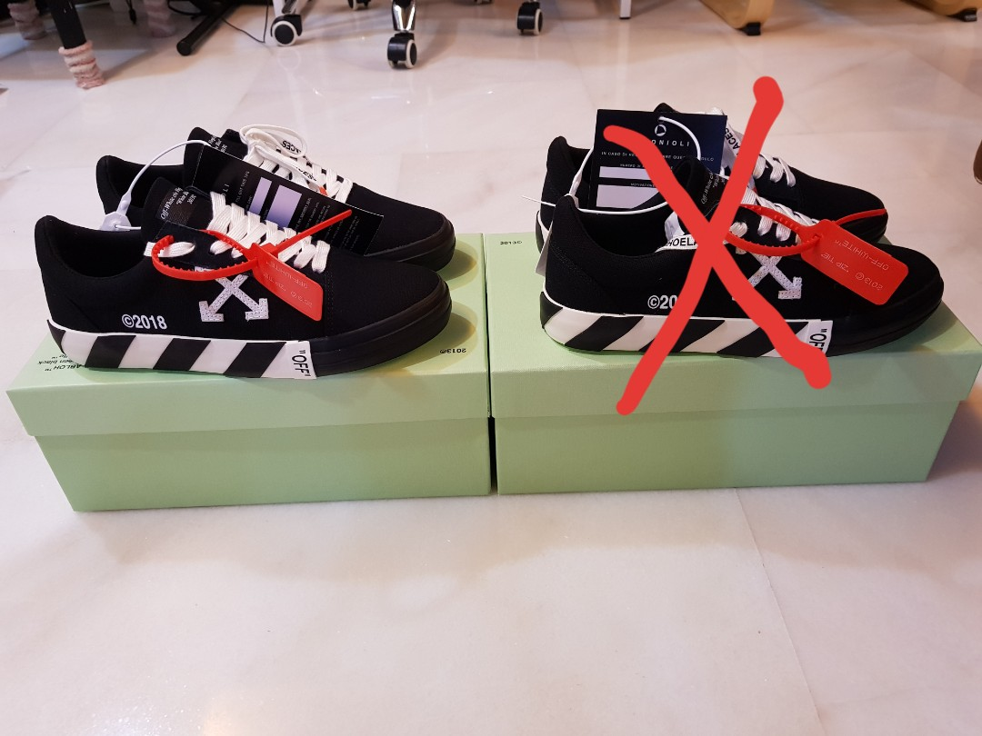c1955402 ** Updated 21/10 ** Off White Vulc Low Top Black (EU41), Men's Fashion,  Footwear, Sneakers on Carousell
