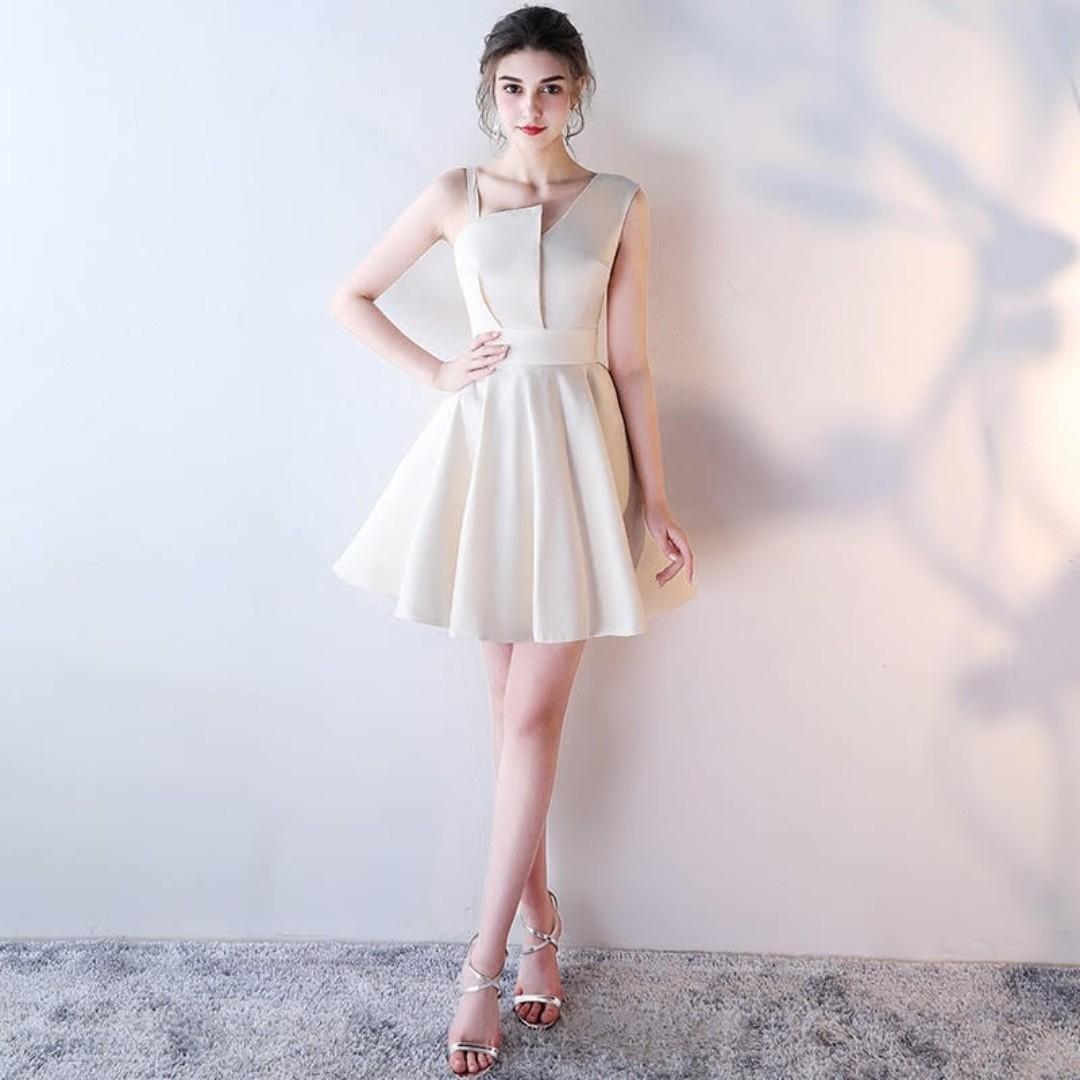 ffe368cbf4aff A Slim Bridesmaid Dress, A Party Dress, A Korean Wedding Banquet
