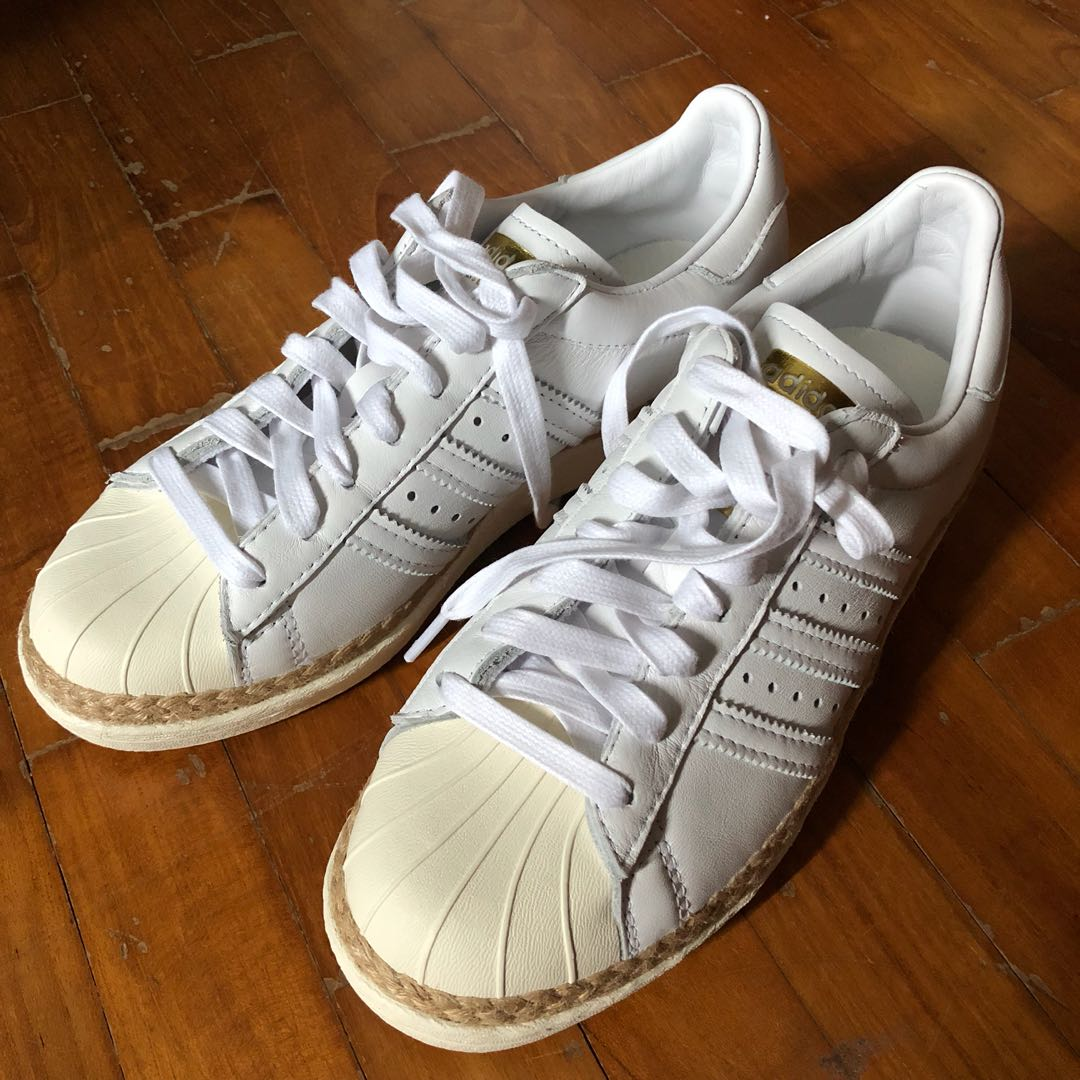 buy popular 1a2c6 51682 Adidas Superstar 80s New Bold Off White Color Female US6.5 U