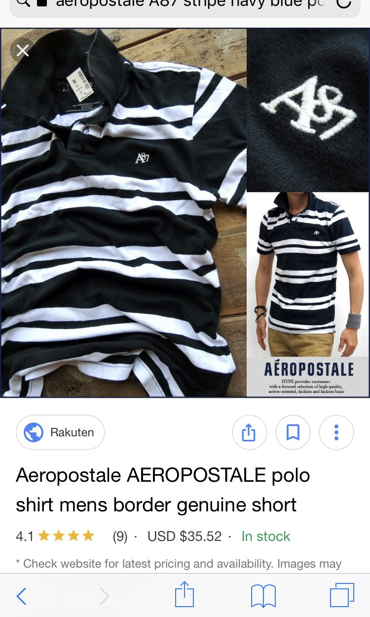 39c73af2 Aeropostale A87 striped polo tee, Men's Fashion, Clothes on Carousell