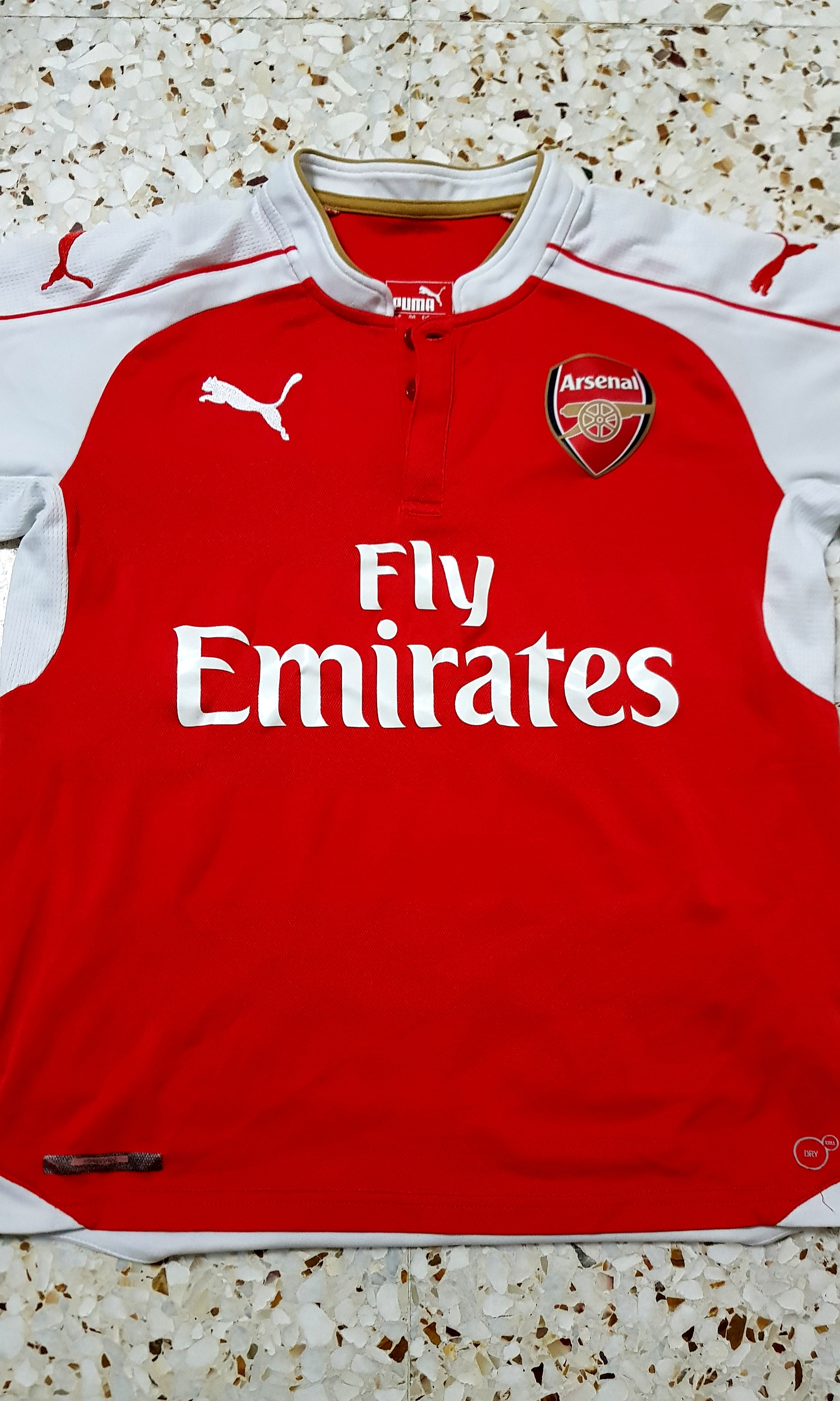 new arrival 8e851 d700d Authentic Arsenal 2015/2016 Home Jersey (BOYS XL)