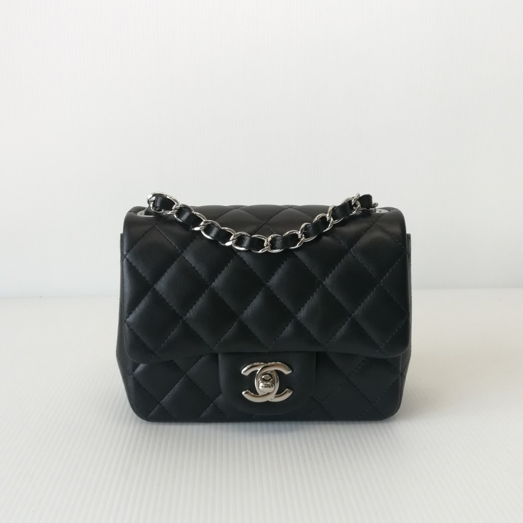 c8812846ac9e Authentic Chanel Classic Mini Square Flap Bag, Luxury, Bags & Wallets on  Carousell
