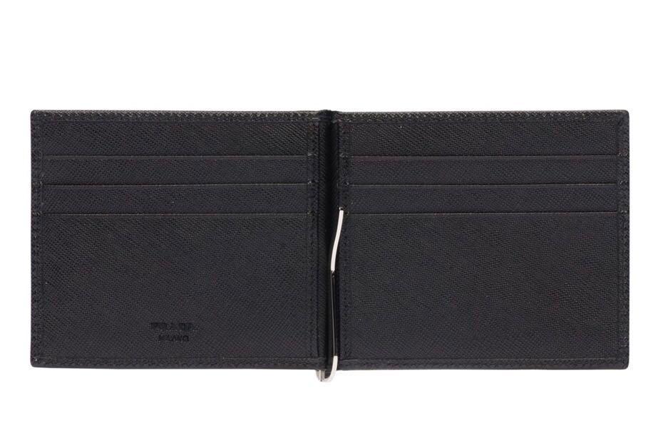 62969d87eb6d AUTHENTIC Prada Money Clip Leather Wallet!, Men's Fashion, Bags ...
