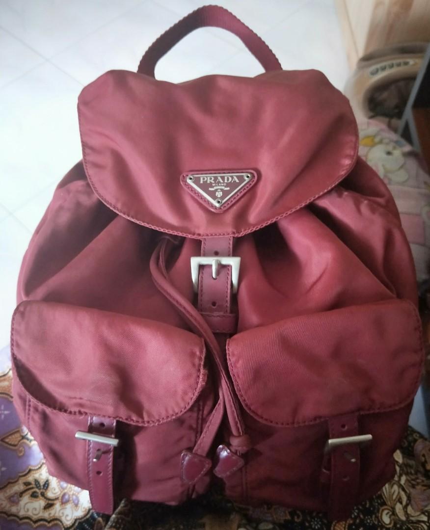 7b5b834fd04a Authentic Prada Vintage Mini Small Porpora Nylon Backpack/haversack ...