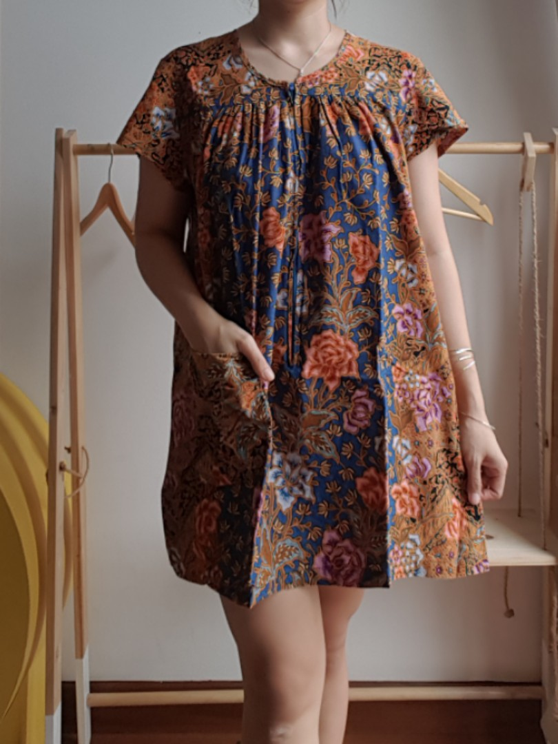 Baju Batik Menyusui Jumbo Bigsize Seleting Xl Daster Fesyen Wanita Hh Serba 45 Rb Aja Mickey
