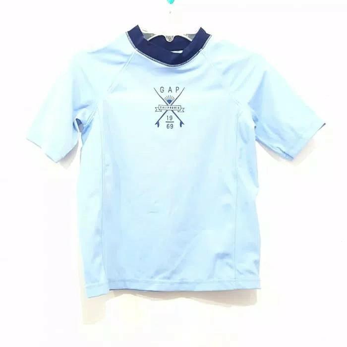 Baju Renang Anak laki Gapkids Ori Biru blue kaos surf