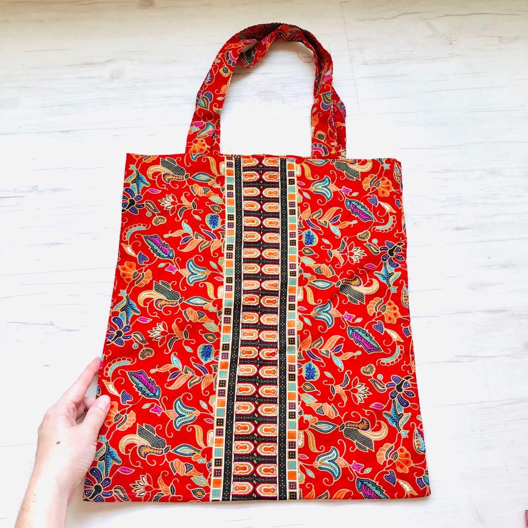 54d835463dbf Batik Tote Bag Handmade in Singapore