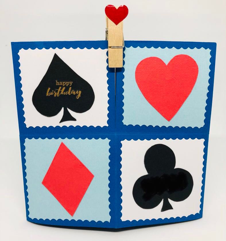 Birthday Card Poker Themed Hand Made With Pop Up Effect Design