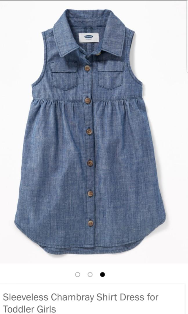 596eda0fc BN (2T & 4T) Old Navy Chambray Shirt Dress, Babies & Kids, Girls ...