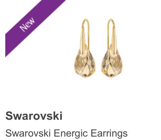 423e8f9a1 BRAND NEW Swarovski Energic Gold Crystal Earring, Women's Fashion ...