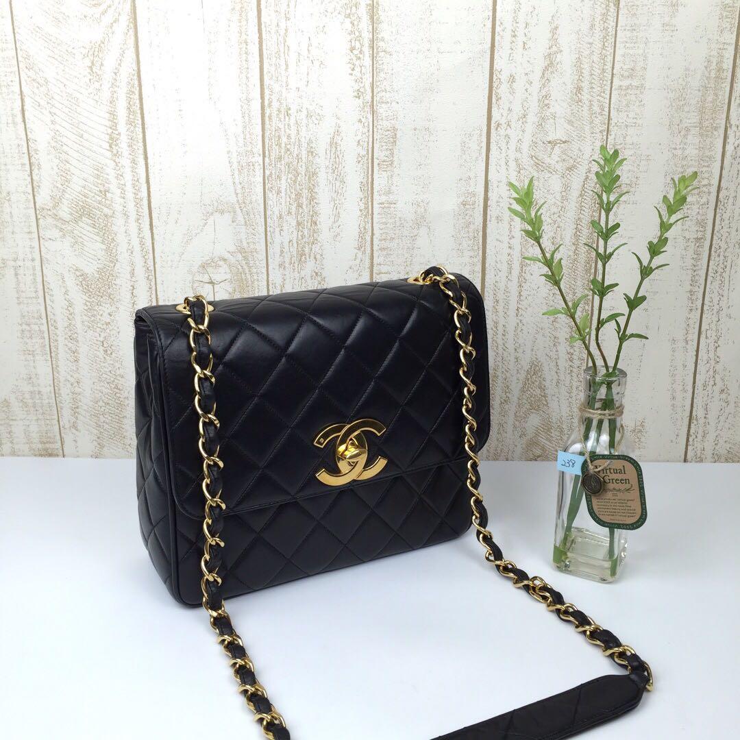 4024e5aaa276 Chanel Big CC Square Flap, Luxury, Bags & Wallets, Handbags on Carousell