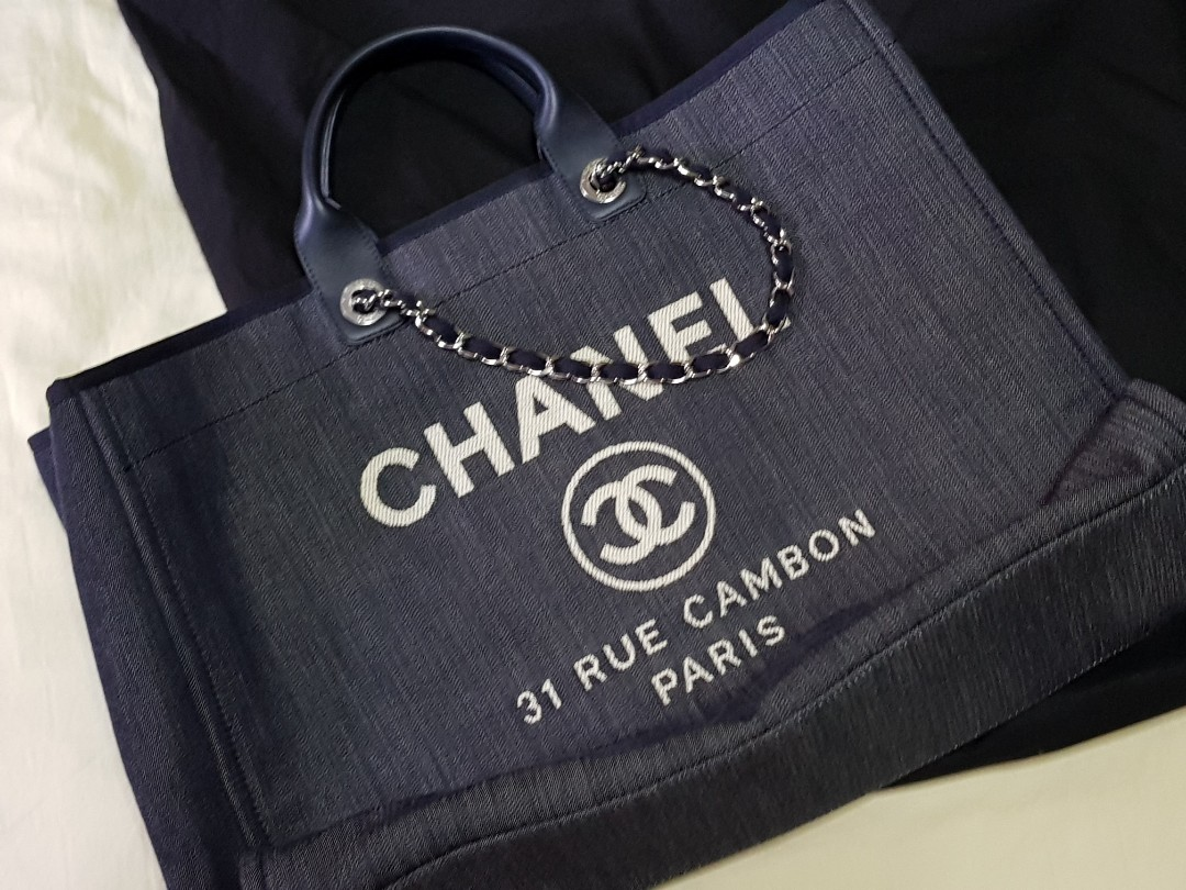 2dccf2ffc3f1 Chanel Deauville Tote (Extra Large), Luxury, Bags & Wallets ...
