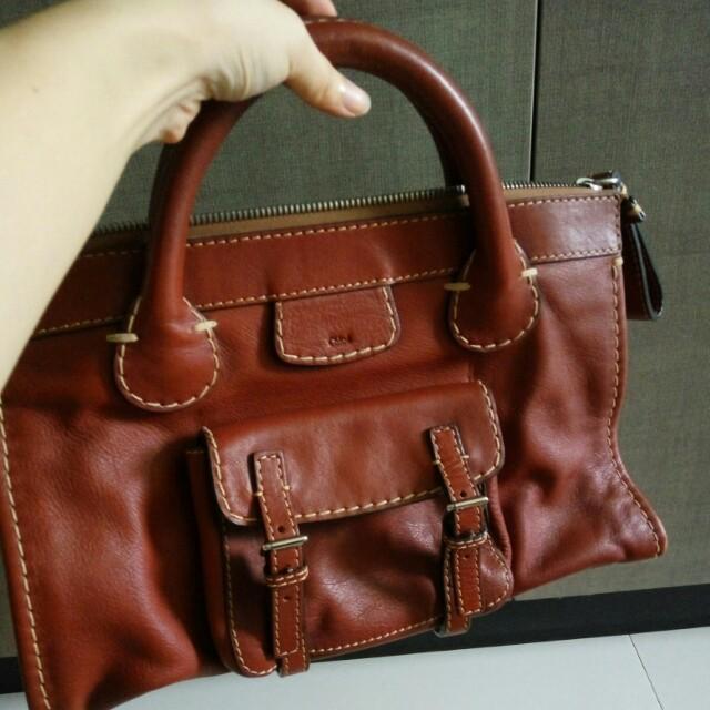Chloe Edith Leather Tote Bag Luxury Bags Wallets