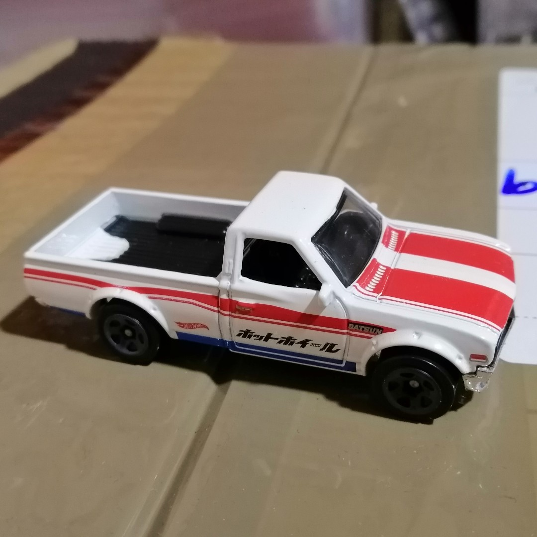 Datsun 620 White Loose With Free Acrylic Box Toys Games