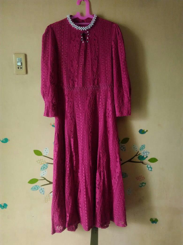 Dress Muslim Brokat Premium Women S Fashion Women S Clothes