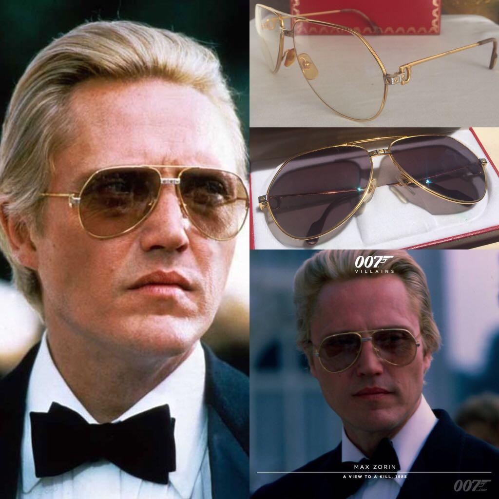 266210f708e72 Final Drop! Vintage Cartier Santos Sunglasses Vendome 14k Gold ...