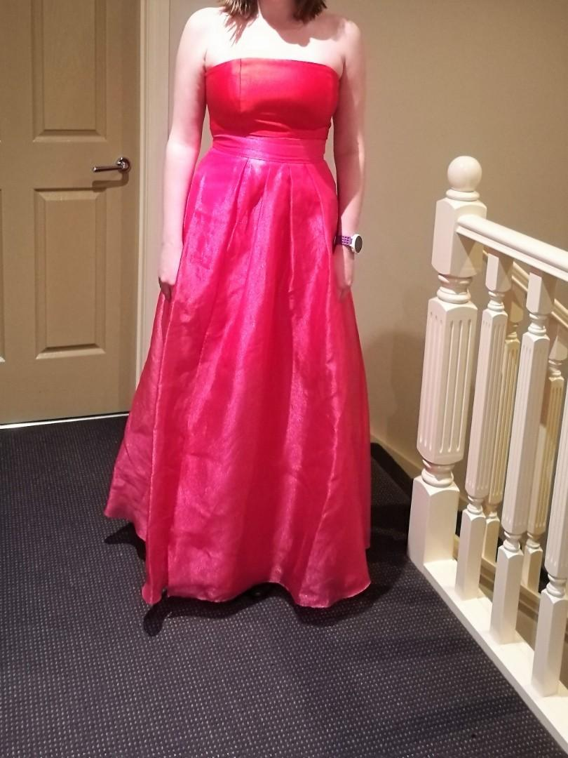 Forever New limited edition strapless red/pink gown size 12
