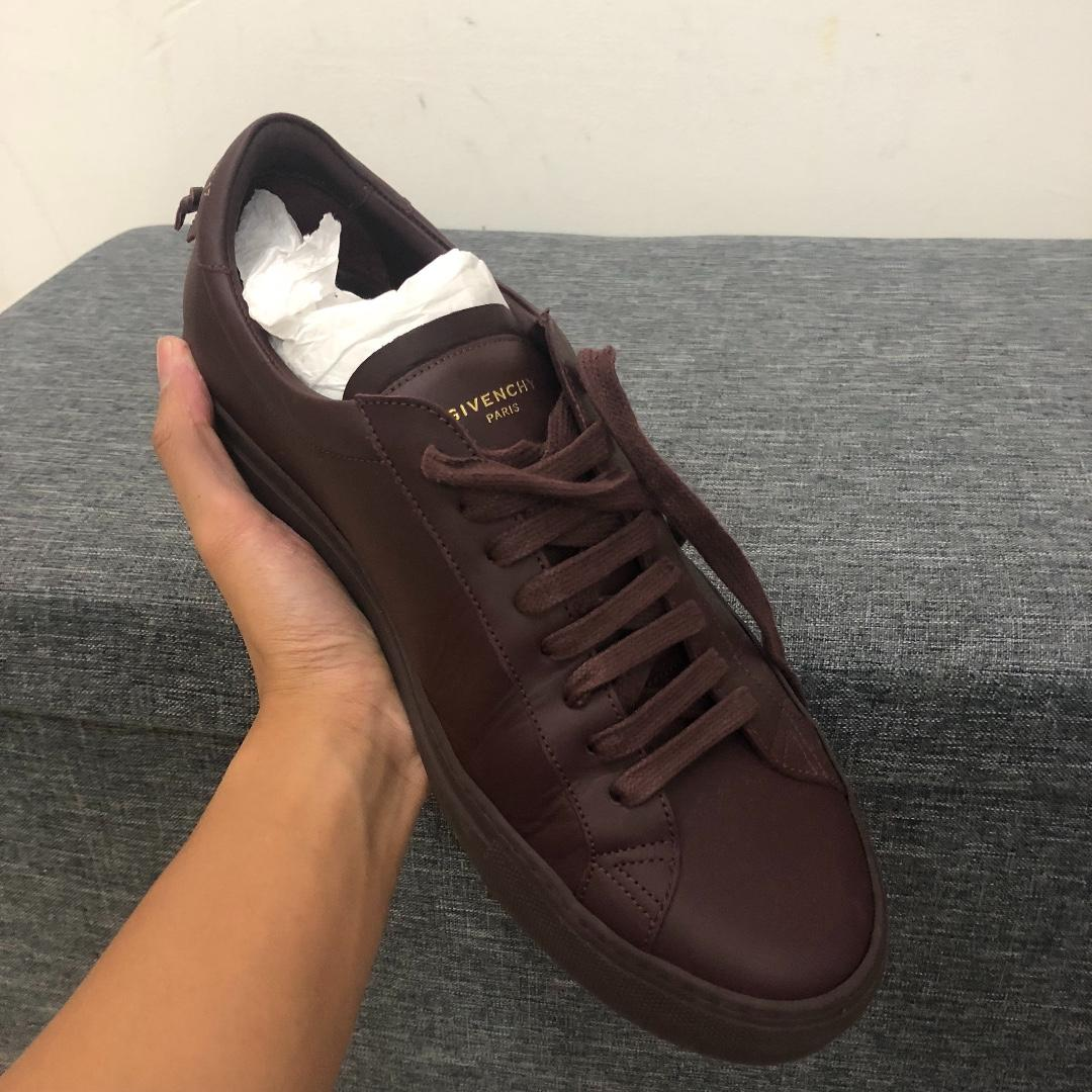 GIVENCHY BURGUNDY SNEAKERS