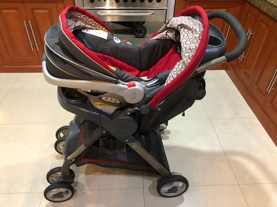 Graco Fastaction Fold Click Connect Travel System Finley On Carousell