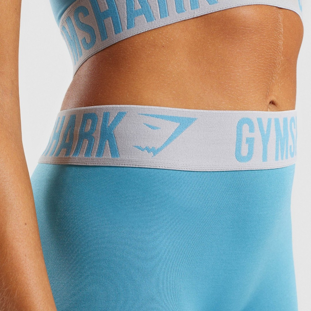 9b7c4b0bff8fb GYMSHARK FIT LEGGINGS AND SPORTS BRA IN DUSKY TEAL LIGHT GREY ...
